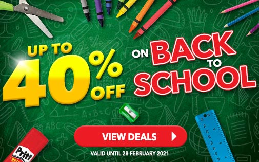 UP TO 40% OFF BACK TO SCHOOL