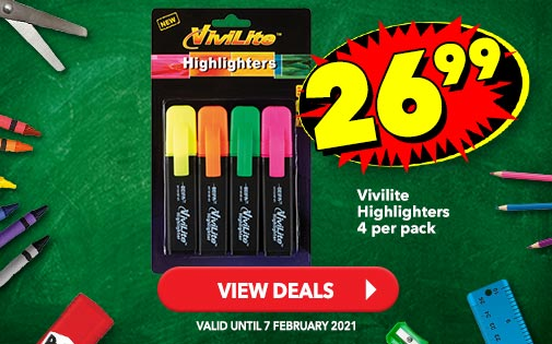 VIVILITE HIGHLIGHTERS 4 PER PACK, 26,99
