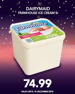 DAIRYMAID FARMHOUSE ICE CREAM 5L, 74.99